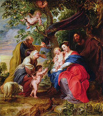 The Holy Family under an Apple Tree, c.1632 | Rubens | Painting Reproduction