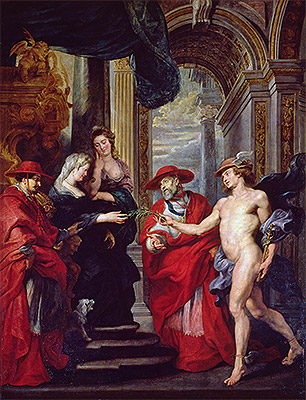 The Treaty of Angouleme (The Medici Cycle), c.1621/25 | Rubens | Painting Reproduction