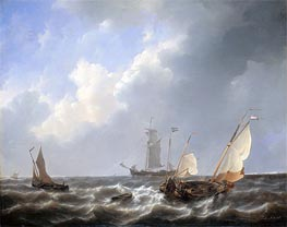 Petrus Schotel | Seascape from the Zeeland Waters, near the Island of Schouwen, c.1825/27 | Giclée Canvas Print