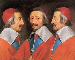 Philippe de Champaigne   Triple Portrait of Cardinal Richelieu, 1642   Giclée Canvas Print