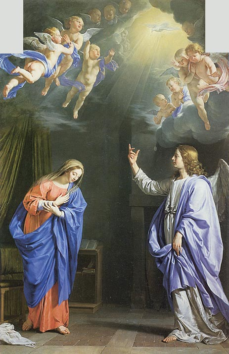 The Annunciation, c.1648 | Philippe de Champaigne | Painting Reproduction