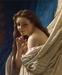 Pierre-Auguste Cot | Portrait of a Young Woman, 1869 | Giclée Canvas Print