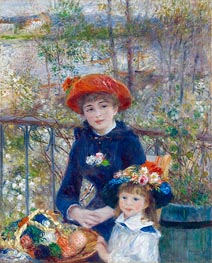 Renoir | Two Sisters (On the Terrace), 1881 by | Giclée Canvas Print