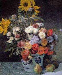 Renoir | Mixed Flowers in an Earthenware Pot | Giclée Canvas Print