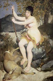 Renoir | Diana the Huntress, 1867 by | Giclée Canvas Print