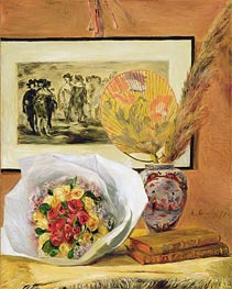 Renoir | Still Life with Bouquet and Fan | Giclée Canvas Print