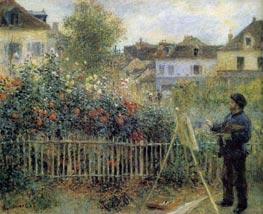 Renoir | Claude Monet Painting in His Garden at Argenteuil | Giclée Canvas Print