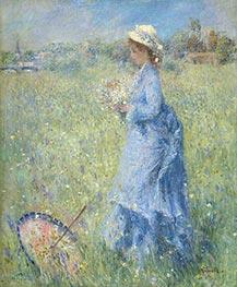Renoir | Girl Gathering Flowers | Giclée Canvas Print