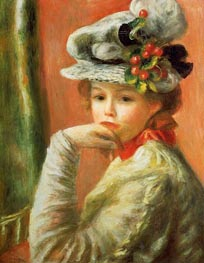 Renoir   Young Girl in a White Hat   Giclée Canvas Print
