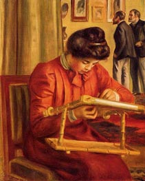 Renoir | Christine Lerolle Embroidering | Giclée Canvas Print