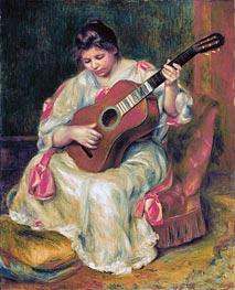 Renoir | Woman Playing the Guitar | Giclée Canvas Print
