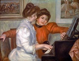Renoir | Yvonne and Christine Lerolle at the Piano | Giclée Canvas Print