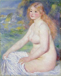 Renoir | Blonde Bather | Giclée Canvas Print