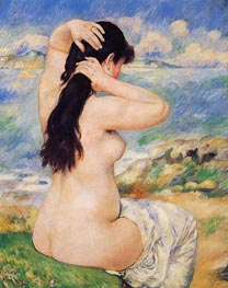 Renoir | Bather Arranging Her Hair (Nude Fixing Her Hair) | Giclée Canvas Print