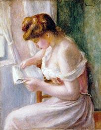 Renoir | A Girl Reading, 1891 | Giclée Canvas Print