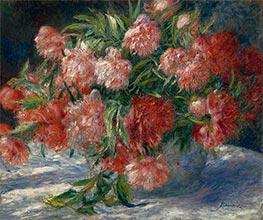 Renoir | Peonies in a Vase, c.1880 | Giclée Canvas Print