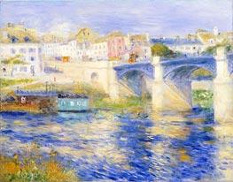 Renoir | Argenteuil Bridge (Bridge at Chatou), c.1875 | Giclée Canvas Print