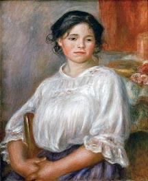 Renoir | Young Girl Sitting (Helene Bellon), c.1909 | Giclée Canvas Print