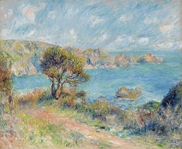 Renoir | View at Guernsey, 1883 | Giclée Canvas Print