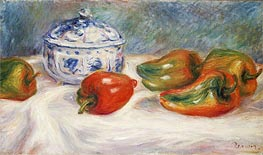 Renoir | Still Life with a Blue Sugar Bowl and Peppers, c.1905 | Giclée Canvas Print