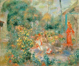 Renoir | Young Girls in the Garden at Montmartre, c.1893/95 | Giclée Canvas Print
