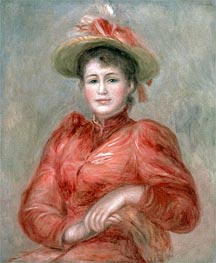 Renoir | Young Woman in Red Dress, c.1892 | Giclée Canvas Print