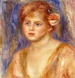 Renoir | Portrait of a Young Girl, c.1918/19 | Giclée Canvas Print