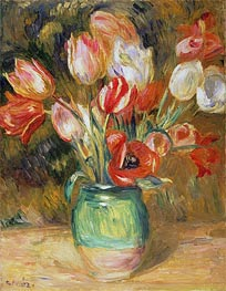 Renoir | Tulips in a Vase, undated | Giclée Canvas Print