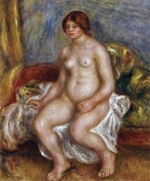 Renoir | Nude Woman on Green Cushions, 1909 | Giclée Canvas Print