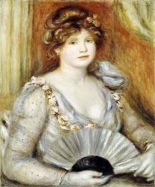 Renoir | Woman with a Fan, undated | Giclée Canvas Print