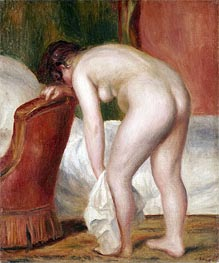 Renoir | Female Nude Drying Herself, c.1909 | Giclée Canvas Print