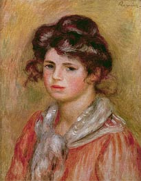 Renoir | Young Girl with a White Handkerchief (Gabrielle), 1907 | Giclée Canvas Print
