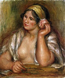 Renoir | Gabrielle with Green Necklace, c.1905 | Giclée Canvas Print