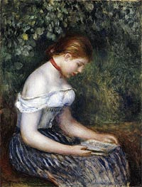 Renoir | The Reader (A Seated Young Girl), 1887 | Giclée Canvas Print