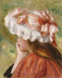 Renoir | Young Girl in a Red Hat, undated | Giclée Canvas Print