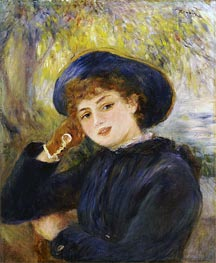 Renoir | Portrait of Mademoiselle Demarsy, 1882 | Giclée Canvas Print