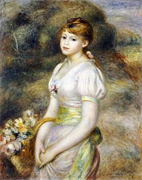 Renoir | Young Girl with a Basket of Flowers, undated | Giclée Canvas Print