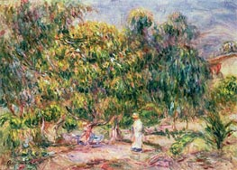 Renoir | The Woman in White in the Garden of Les Colettes, 1915 | Giclée Canvas Print