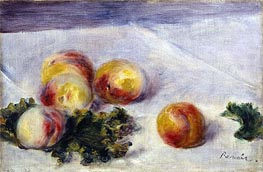 Renoir | Still Life with Peaches on a Table, c.1890/18 | Giclée Canvas Print