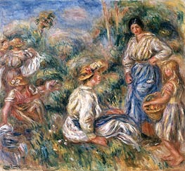 Renoir | Women in a Landscape, 1912 | Giclée Canvas Print