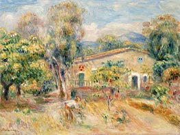 Renoir | Collettes Farmhouse, Cagnes, 1910 | Giclée Canvas Print