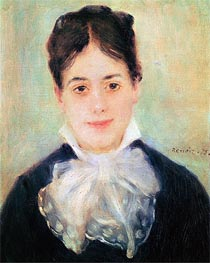 Renoir | Woman Smiling, 1875 | Giclée Canvas Print