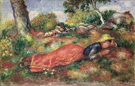 Renoir | Young Girl Sleeping on the Grass, undated | Giclée Canvas Print