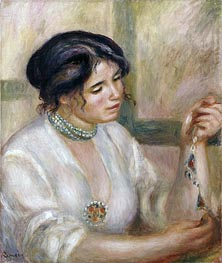 Renoir | Woman with a Necklace, undated | Giclée Canvas Print