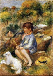 Renoir | Young Boy by a Brook, 1890 | Giclée Canvas Print