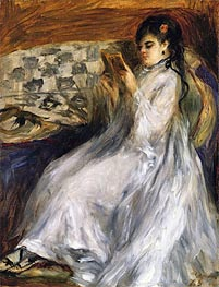 Renoir | Woman in White Reading, 1873 | Giclée Canvas Print