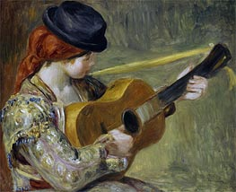 Renoir | Girl with a Guitar, 1897 | Giclée Canvas Print
