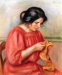 Renoir | Gabrielle Darning, 1908 | Giclée Canvas Print