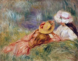 Renoir | Young Girls on the River Bank, c.1893 | Giclée Canvas Print