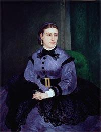 Renoir | Portrait of Mademoiselle Sicot, 1865 | Giclée Canvas Print